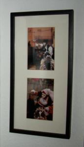 Rahmen schwarz lasiert mit angeschliffener Kante - Bildereinrahmungen Metzingen